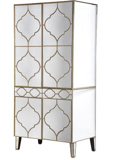 Mirrored Armoire, Antique Style
