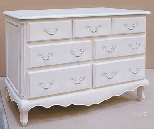 Shabby Chic Chest of Drawers, Chateau White