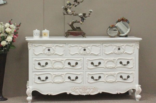 Rococo Chest of Drawers, Chateau White