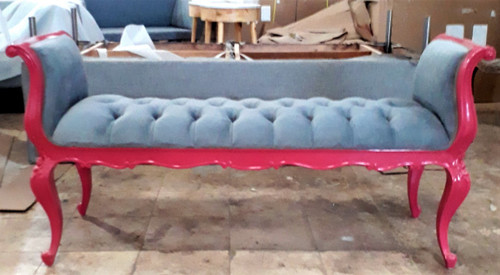 Tufted Provincial Bench, Pink