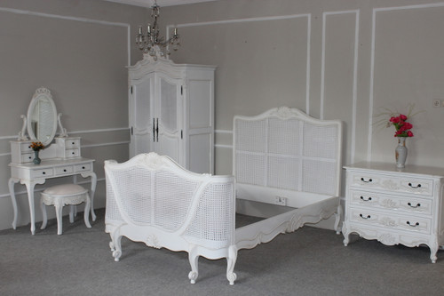 French Chateau Rattan Bedroom Set