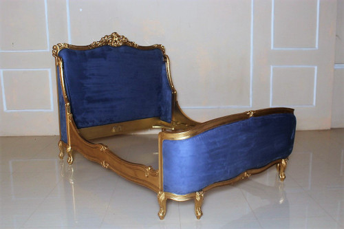 French Sleigh Bed, Gold