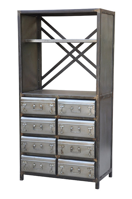 Metal Case Style Bookcase