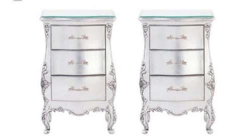 Rococo Bedside Silver