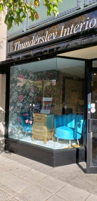 Art Deco Shell Chair, Blue