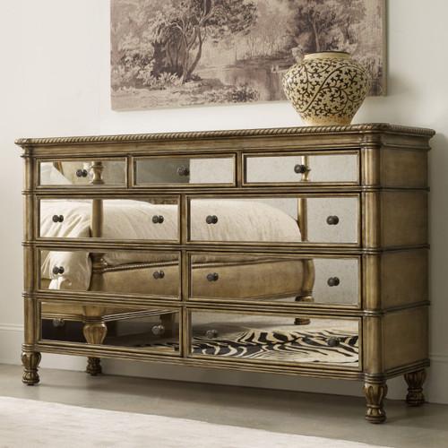 Mirrored Dresser / 10 Drawer