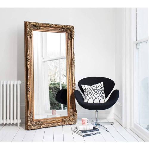 Versailles Gold Floor Mirror Large
