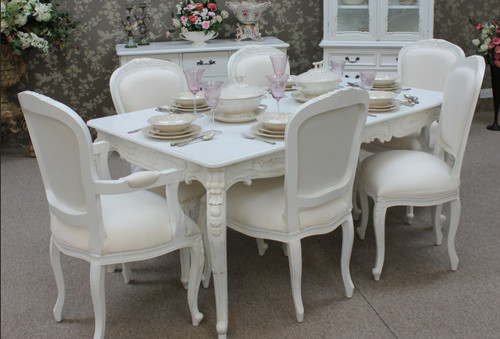 Provincial Chateau Dining Table Set 8 Piece