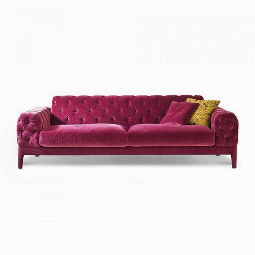 Elliot Sofa, Pink Velvet