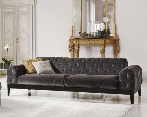 Elliot Sofa, Charcoal Grey Velvet