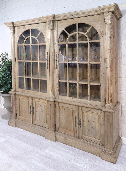 French Style Reclaimed Double Bookcase