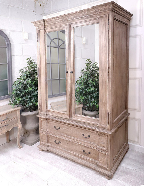 French Royal Grand Mirrored Wardrobe