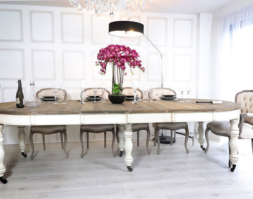 French Chateau Extending Dining Table