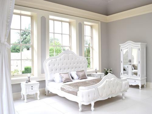 Louis XVI Bedroom Set, Button Bed 4 Pieces