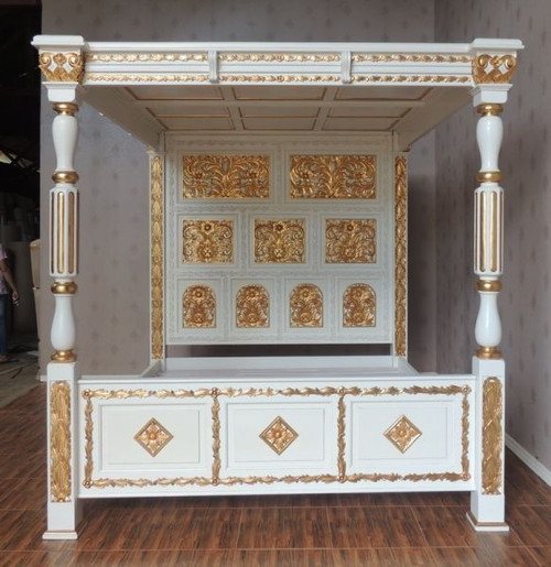 French Four Poster Canopy Bed