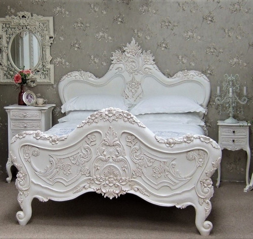 Champagne Rococo Bed