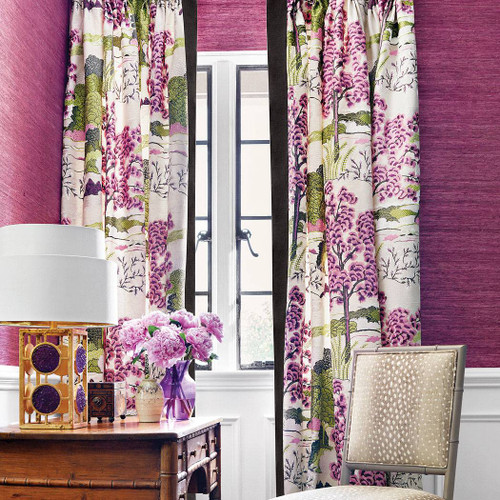"""THIBAUT DAINTREE CURTAINS WITH 3"""" BINDING"""