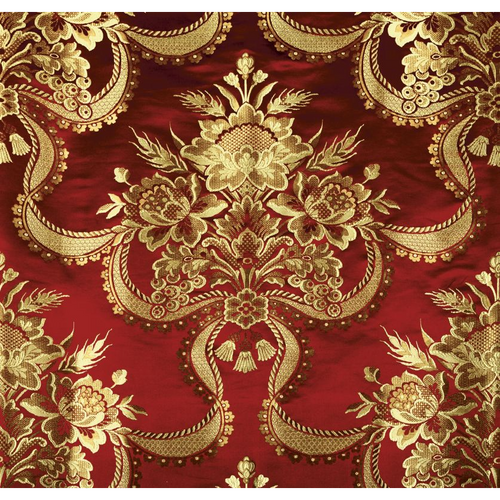 SCALAMANDRE REALE NASTRI CHERRY GOLD FABRIC BY THE YARD