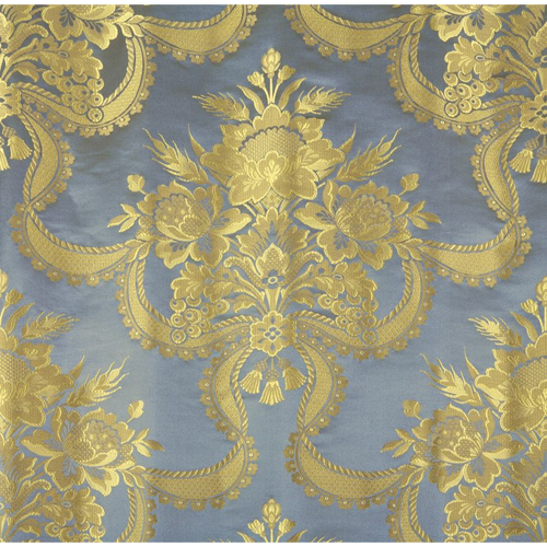 SCALAMANDRE REALE NASTRI BLUE JAY FABRIC BY THE YARD