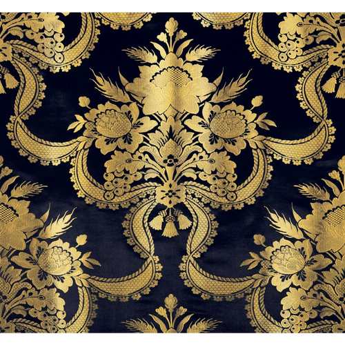 SCALAMANDRE REALE NASTRI MIDNIGHT FABRIC BY THE YARD