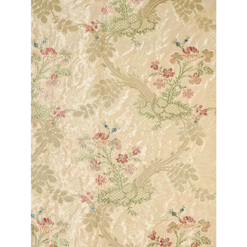 SCALAMANDRE SOIERIE LAMPAS II  FABRIC BY THE YARD