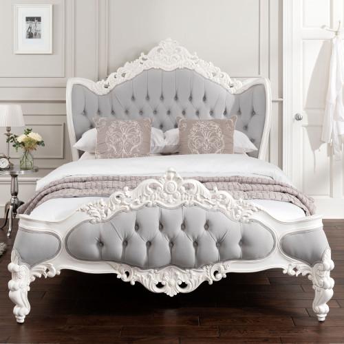 PROVENCE ROCOCO ANTIQUE WHITE BED
