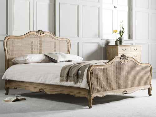 French Weathered Rattan Bed California King