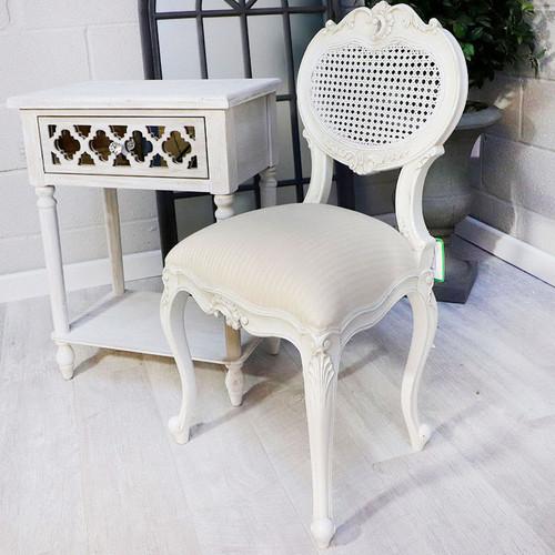 Marie Antoinette Rattan Heart Chair