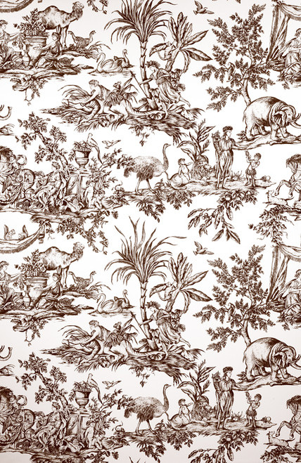 TOILE FABRIC FOR HOME DECOR BY THE YARD