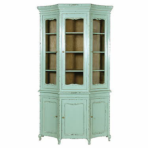 Bookcase, Turquoise French Bookcase Display