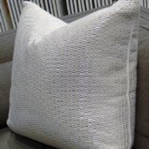 Valentino Metallic Throw Pillow, Fabric by Kravet