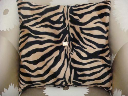 Zebra bling pillow Beige and Black