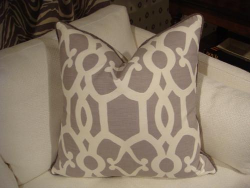Zenith Throw Pillow, Color Dusky Mauve 20 x 20