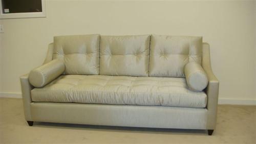 South Molton Sofa in silver fabric