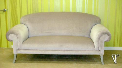 Custom Sofa, The Elgin Sofa.....Light Mauve Velvet by Rogers & Goffigon