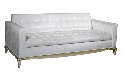 Madison Sofa, Tufted with gold base