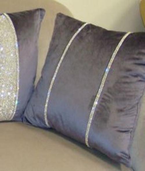 Luxury Throw Pillow, Chelsea Bling Throw pillow