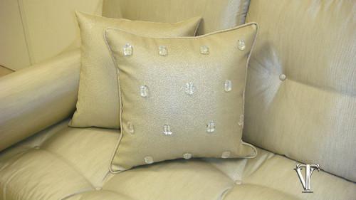 Milan Throw Pillow, Bling Style Pearl