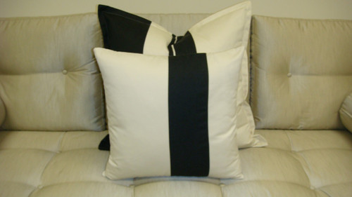 Hampton Wide Stripe Throw Pillow, Fabric by Ralph Lauren Home