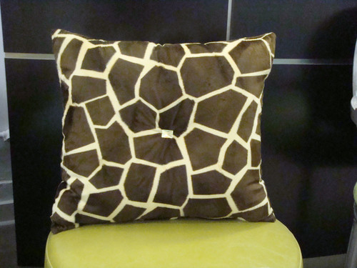 Giraffe Throw Pillow, Bling Style, Gold & Brown 18X18