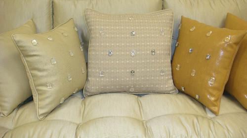 """Milan Throw Pillow Cover, Grey Multi, Bling 20"""" x 20"""""""