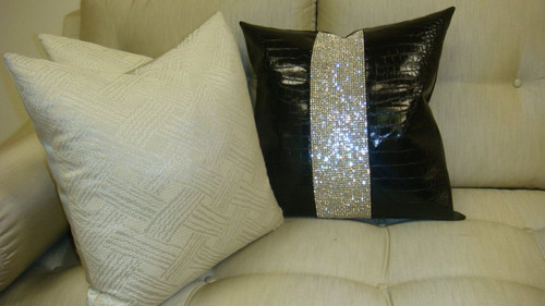 """Winter White Throw Pillow 20"""" x 20"""".......Fabric Designed By Chanel...Set of 3"""