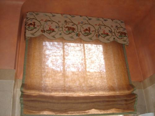 Soft Roman Shades & Cornice