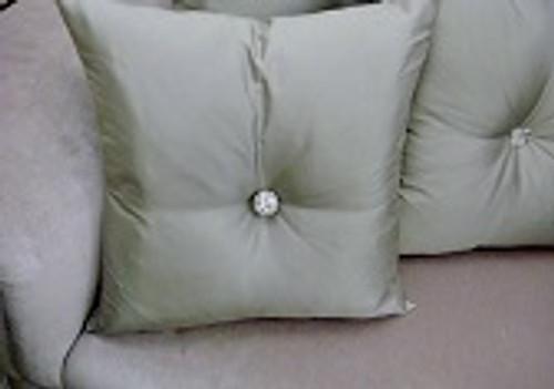 Carnaby Street Throw Pillow, Grey/Silver Silk