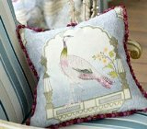 Peacock Throw Pillow, fabric by Designer Guild