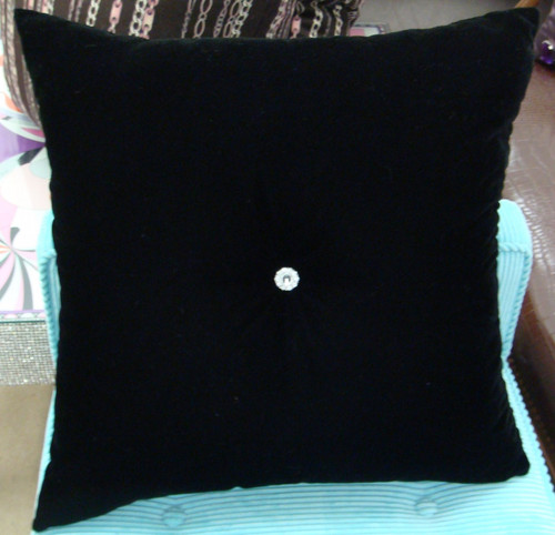 Crystal Chic Bling Throw Pillow @ Thundersley Home Essentials