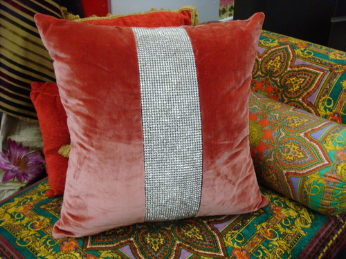 Silk Velvet throw pillow, Belgravia Throw Pillow