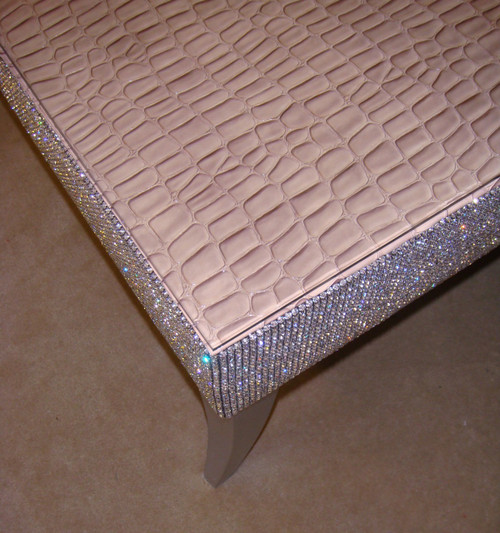 Coffee Table, Belgravia Bling Crock Faux Leather