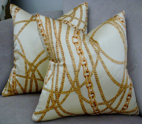 Chanel Chain Style, Couture Throw Pillow Cover
