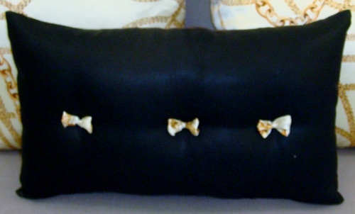 Chanel Decorative Pillow, Lumbar Style with Bows